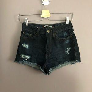BDG Urban Outfitters High Rise Cheeky Denim Shorts